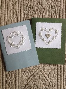 Plastered and Stitched Cards with Jill