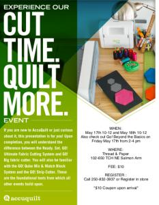 AccuQuilt go! Cutter event